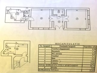 Vanzare apartament in vila 2 camere Calea Mosilor