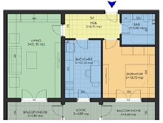 Particular inchiriez apartament 2 camere metrou Aparatorii Patriei