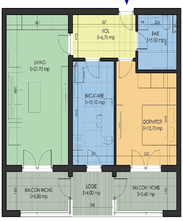 Proprietar inchiriez apartament 2 camere Aparatorii Patriei