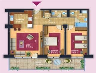 VANZARE apartament 3 camere DRISTOR - Complex Rezidential New Town