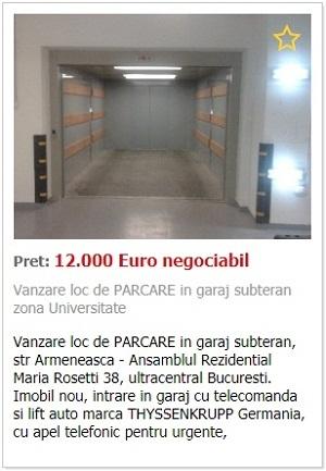 Vanzari garaj in bloc nou Bucuresti